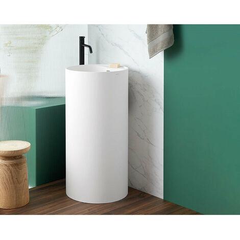 Lavabo colonne design VISTABELLA Ø45 cm en solid surface