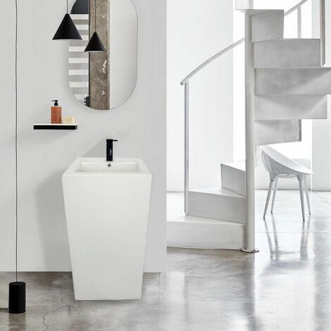 Lavabo colonne Totem Blanc Céramique 85 cm PAROS