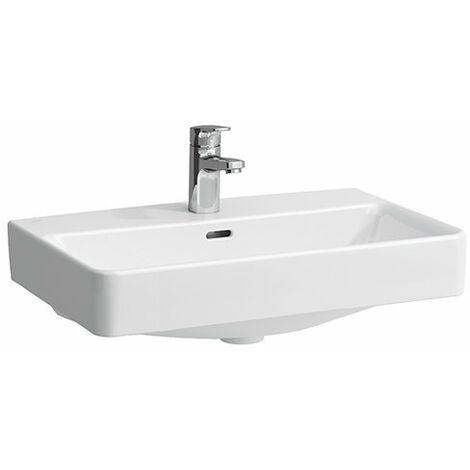 Lavabo compacto de sobre encimera Laufen PRO S, sin agujero para grifo, sin rebosadero, US cerrado, 600x380, blanco, color: Blanco con LCC - H8179594001421
