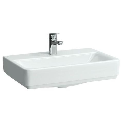 Lavabo compacto de sobre encimera Running PRO S, 3 agujeros para grifos, con rebosadero, modelo US, 550x380, blanco, color: Blanco - H8179580001081