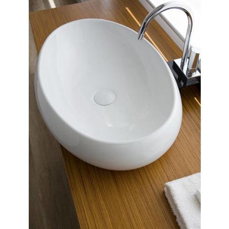 Lavabo da appoggio in Ceramica NUVOLA 60x45x15,5