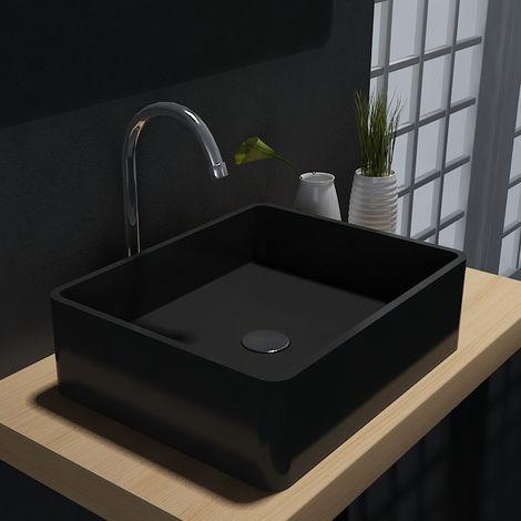 Lavabo da appoggio PB2012B in pietra solida (Solid Stone) – 60 x 40 x15 cm  – colore selezionabile