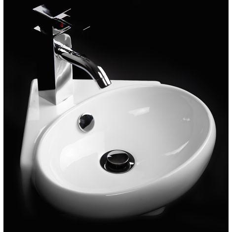 Lavabi D Arredo Ceramica.Lavabo Da Arredo 35 X 35 Quadrato Ceramica Bianco Sanitari