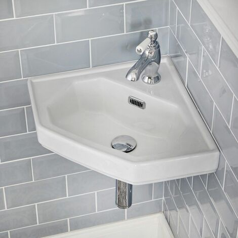 Lavabo d'angle suspendu 42x29cm Old London
