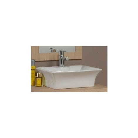 Lavabo d\'appoggio per mobile bagno bianco lucido rettangolare 1 - LAV06