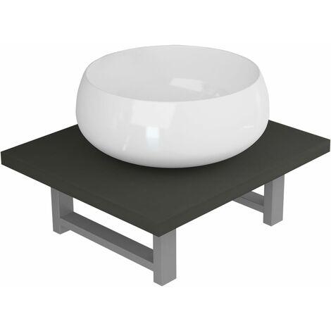 vidaXL Conjunto de muebles de baño 2 piezas cerámica gris - Grigio