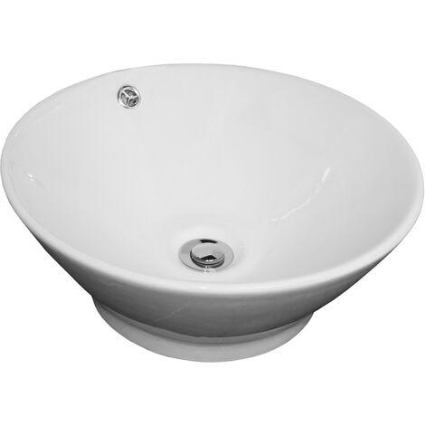 Lavabo de ceramica AMALFI Dimensiones : Ø 42,5 A. 18 cm - Aqua +