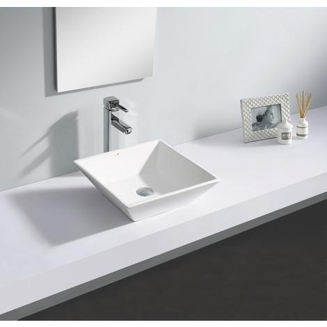 Lavabo de cerámica Elche Blanco