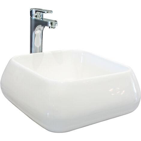 Lavabo de ceramica ETY Dimensiones : 41X41X16 cm - Aqua +