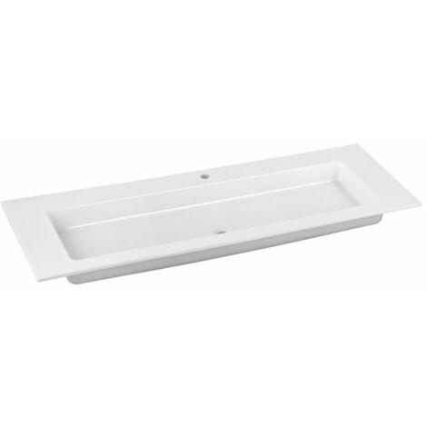 Lavabo de cerámica Keuco Royal 60 32160311401, 1405x17x538mm, para 1 agujero para grifo, blanco - 32160311401