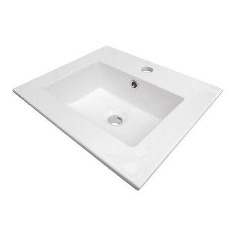 Lavabo de ceramica KIO Dimensiones : 45X40X15,5 cm - Aqua +
