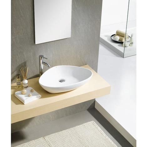 Lavabo de cerámica Teruel Blanco 38x38x13,5 cm
