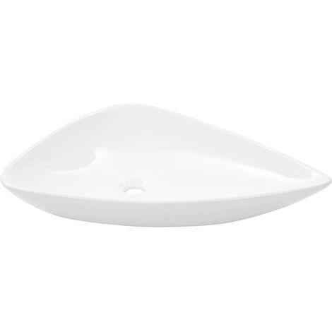Lavabo de cerámica triangular blanco 645x455x115 mm