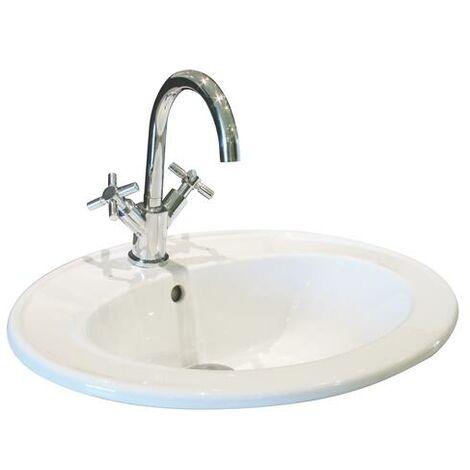 Lavabo de ceramica ZOE Dimensiones : 55X45X19 cm - Aqua +