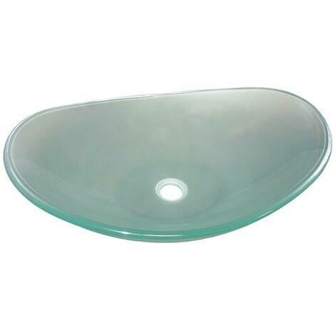 Lavabo de cristal PIROGUE Dimensiones : 56X36,5X15 cm - Aqua +