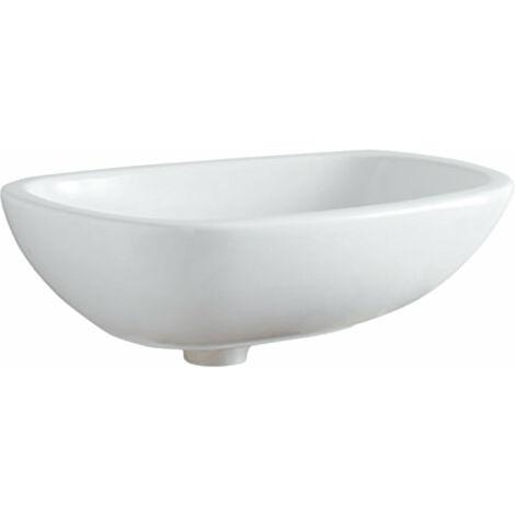 Lavabo de encimera Geberit Citterio 500542011, sin rebosadero, 560x400mm, blanco con KeraTect - 500.542.01.1