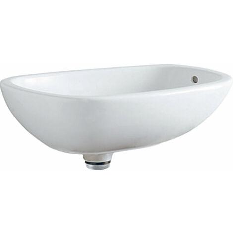 Lavabo de encimera Geberit Citterio 500543011, con rebosadero, 560x400mm, blanco con KeraTect - 500.543.01.1