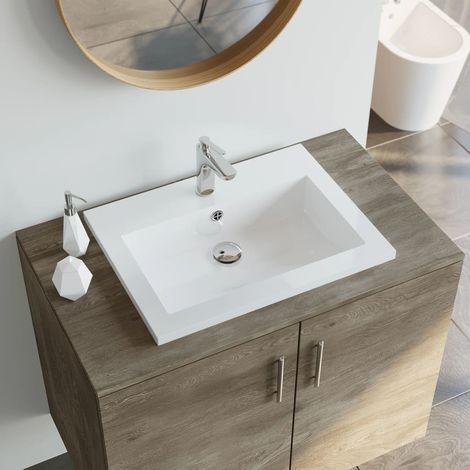 Lavabo de granito blanco 600x450x120 mm