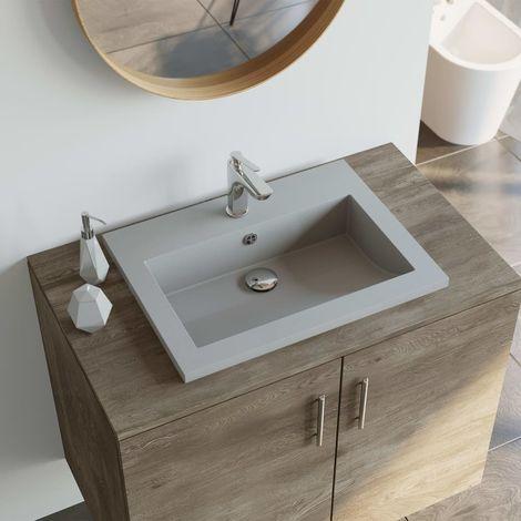 Lavabo de granito gris 600x450x120 mm