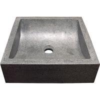 Lavabo de granito gris KIARA 40X40 Dimensiones : 40x40x11,5 cm - Aqua +
