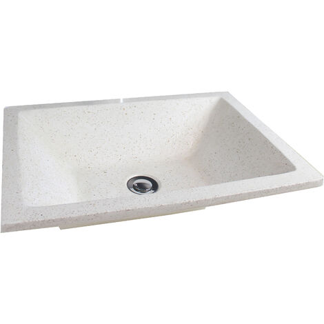 Lavabo de granito gris TAMARA 40X60 Dimensiones : 50x37x13 cm - Aqua +