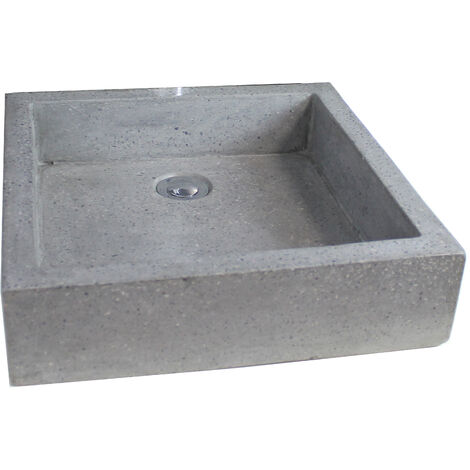 Lavabo de granito gris TIMBRE 40X60 Dimensiones : 40x60x10 cm - Aqua +