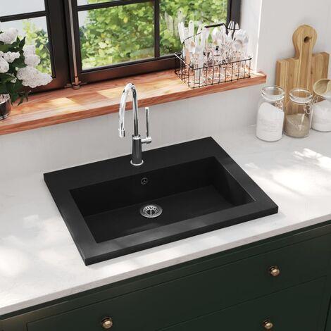 Lavabo de granito negro 600x450x120 mm