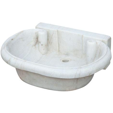 Lavabo de mármol blanco