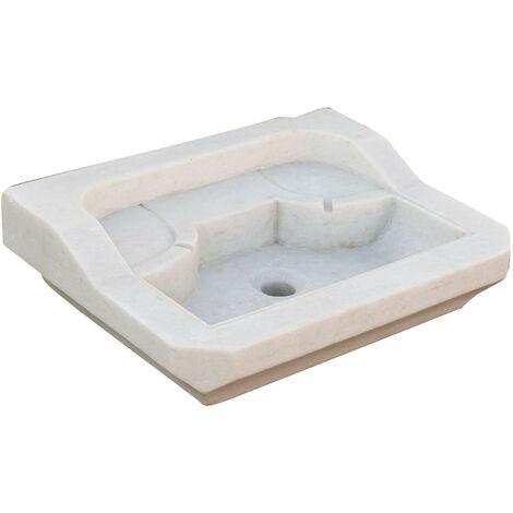Lavabo de mármol blanco L51xPR41xH15 cm