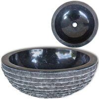 Lavabo de mármol Negro 40 cm