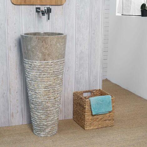 Lavabo de pie de mármol para cuarto de baño FLORENCIA gris - 580