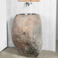 Lavabo de pie de piedra