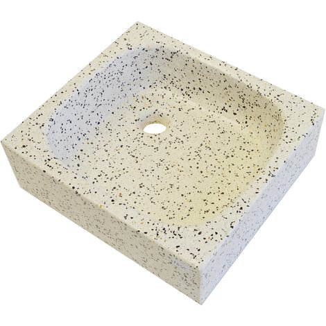 Lavabo de Piedra Cuadrado Dálmata