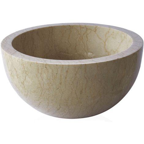 Lavabo de piedra Mármol Ø40cm BASTI redondo crema