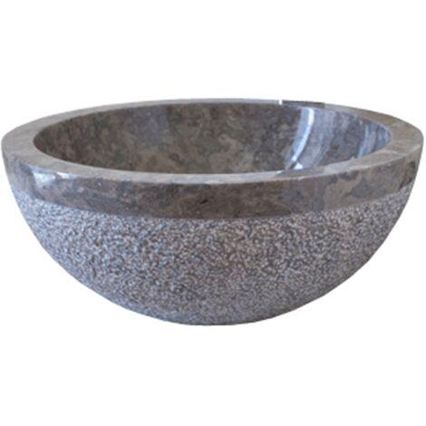 Lavabo de piedra Mármol Ø40cm BIMA redondo gris