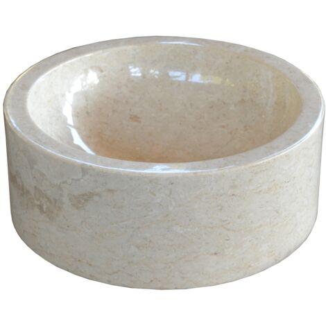 Lavabo de piedra Mármol Ø40cm JAIPUR redondo crema