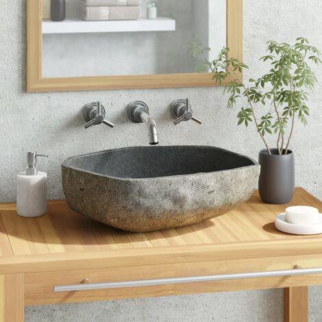 Lavabo de piedra natural ovalado 46-52 cm