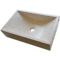 Lavabo de Piedra Rectangular Blanco