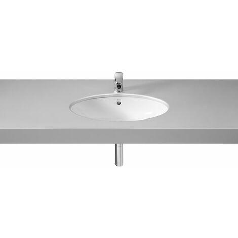Lavabo de porcelana de bajo encimera - Serie Berna , Color Blanco - Roca