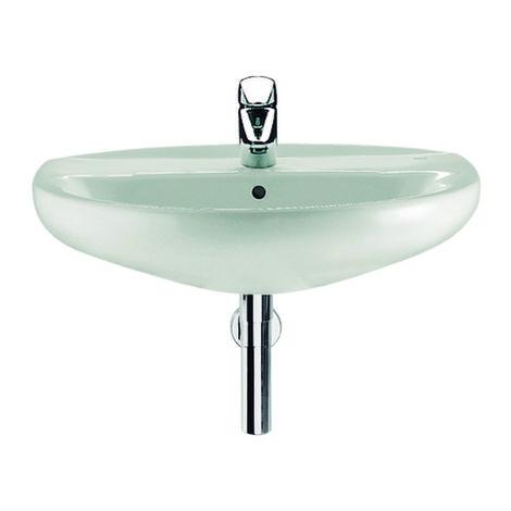 Lavabo de porcelana suspendido - Serie Victoria , Color Blanco - Roca