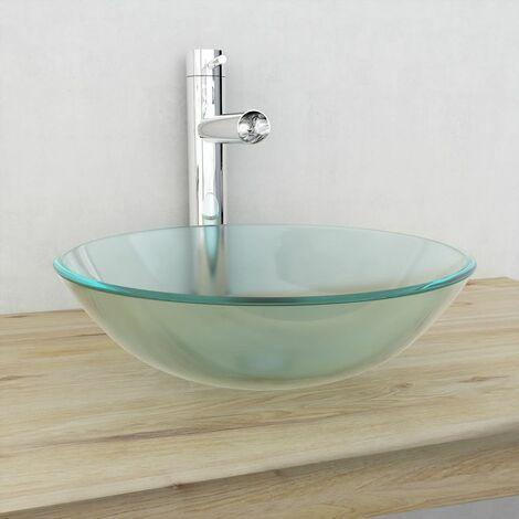 """main image of """"Lavabo de vidrio templado 42 cm esmerilado"""""""