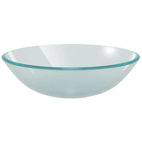 Lavabo de vidrio templado 42 cm esmerilado
