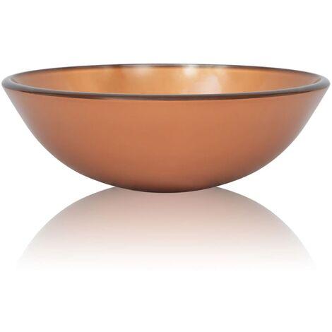 Lavabo de vidrio templado 42 cm marrón