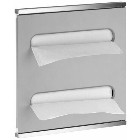 Lavabo del módulo integral del Plan Keuco 2 44985, cromado y de aluminio, con bisagra a la derecha - 44985011702