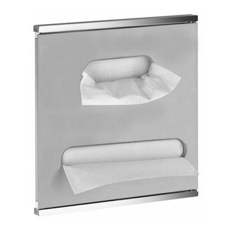 Lavabo del módulo integral del Plan Keuco 344977, cromado y blanco, con bisagra a la derecha - 44977015102