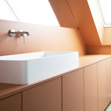 Lavabo doble rectangular 80 cm en Solid Surface – Malo