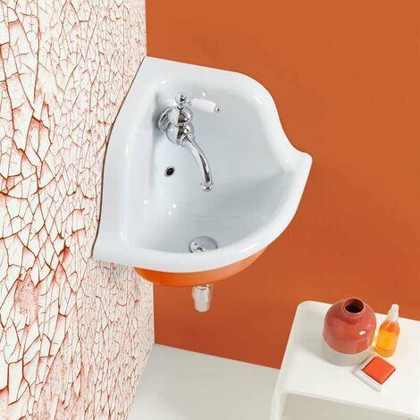 Lavabo école d'angle en céramique émaillée 42 cm True Colors - Orange