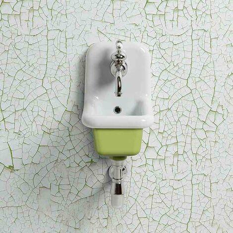 Lavabo école en céramique émaillée 26 cm True Colors - Vert clair