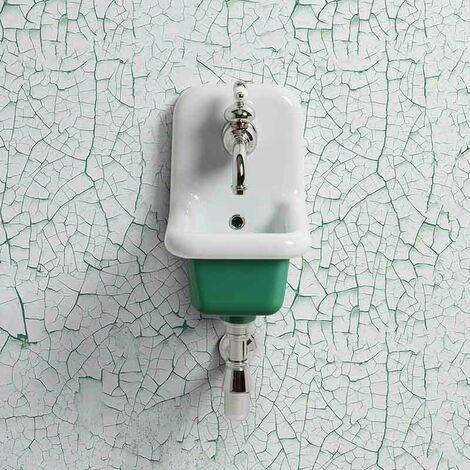 Lavabo école en céramique émaillée 26 cm True Colors - Vert foncé