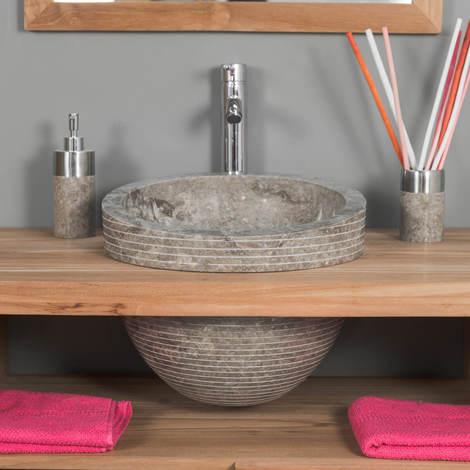 Lavabo EDÉN inclinado mármol gris topo